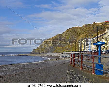 Stock Photograph of Wales, Ceredigion, Aberystwyth. North Beach.