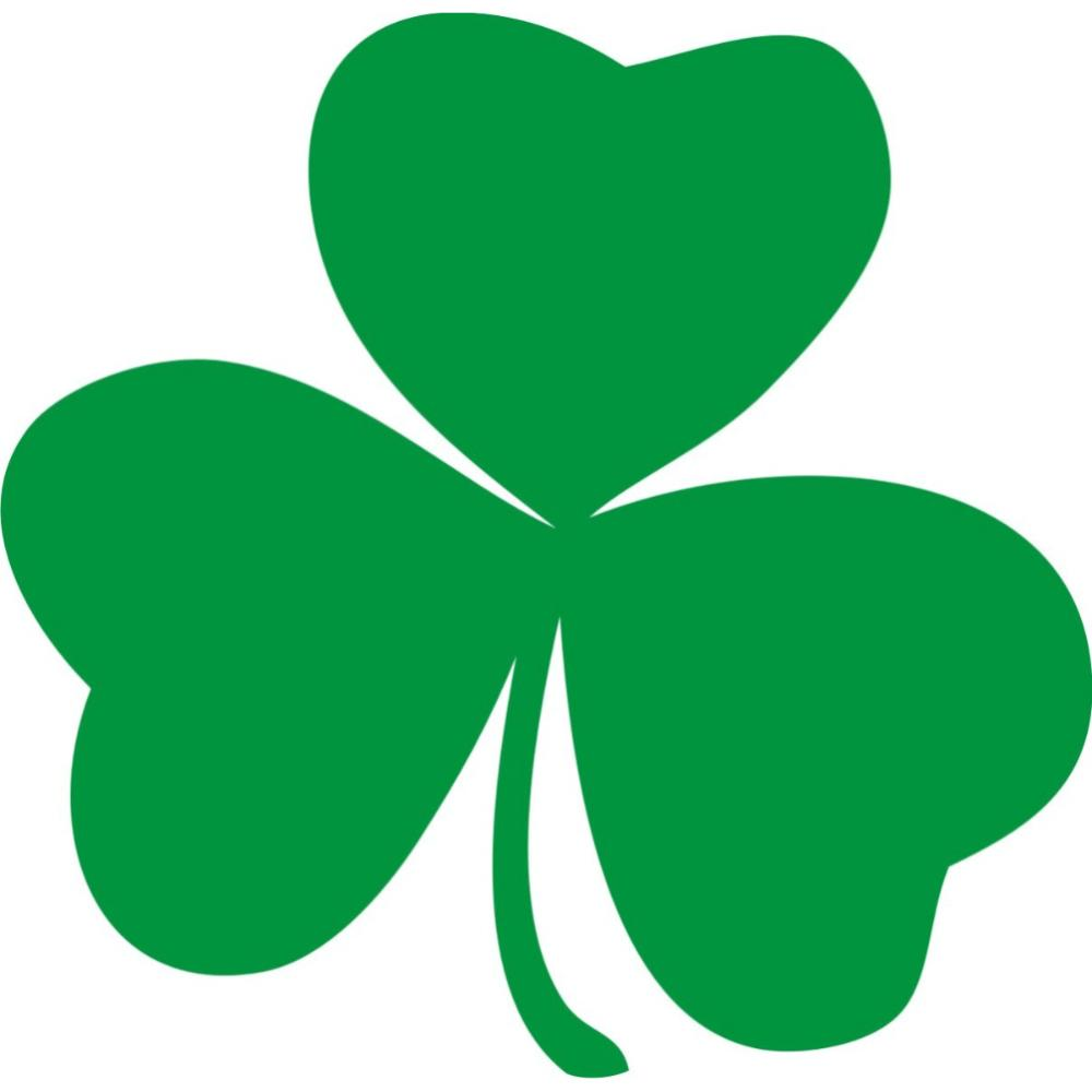 Irish Shamrock Clip Art.
