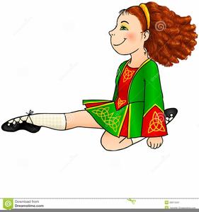 Irish Step Dancer Clipart.
