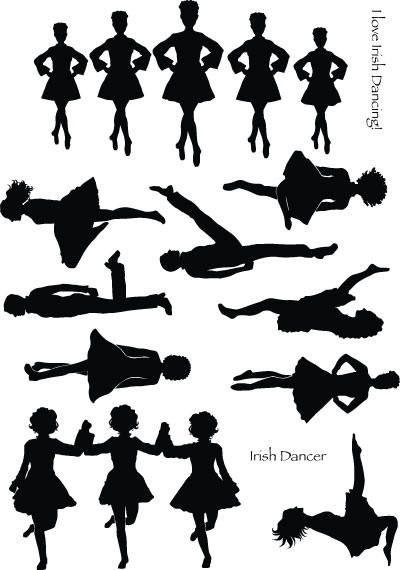 Pics For > Irish Dance Leap Silhouette.