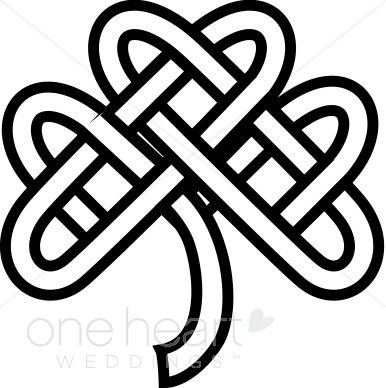 Celtic Knot Shamrock Clipart Celtic Wedding Clipart.