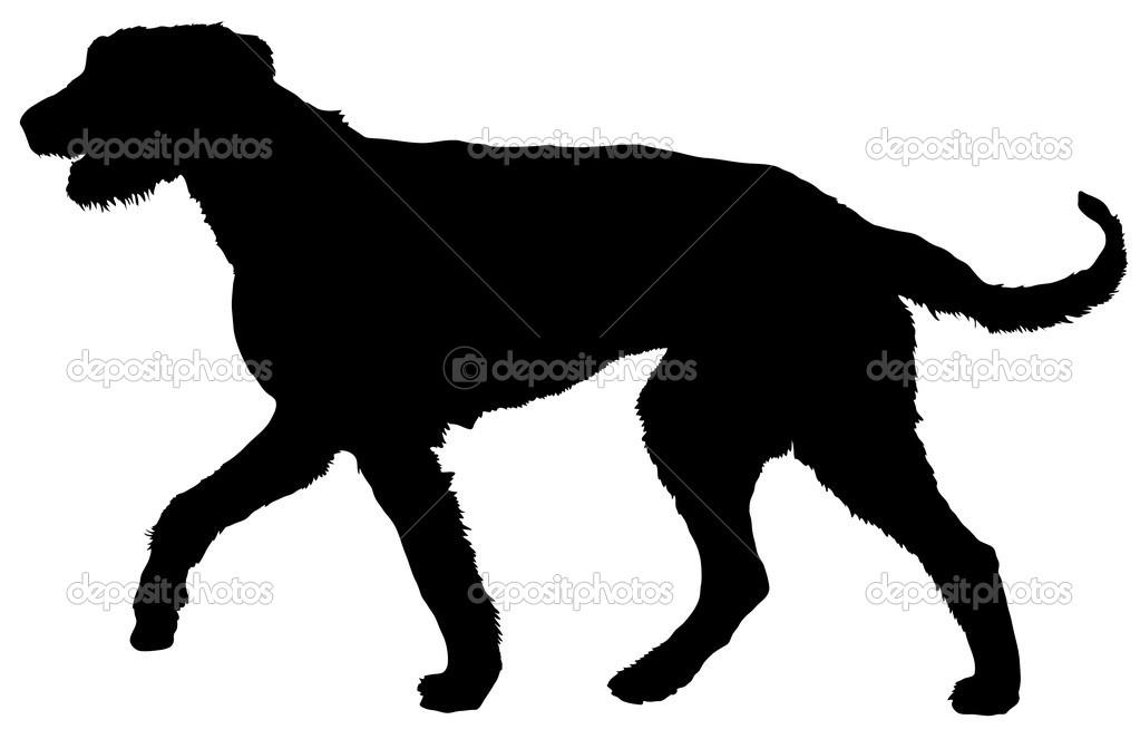 Irish wolf hound clipart silhouette.