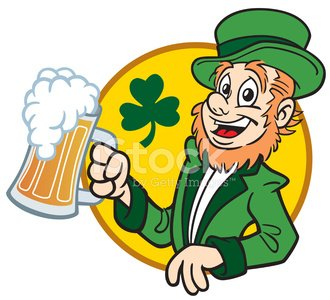 Irishman With Beer Clipart Image.