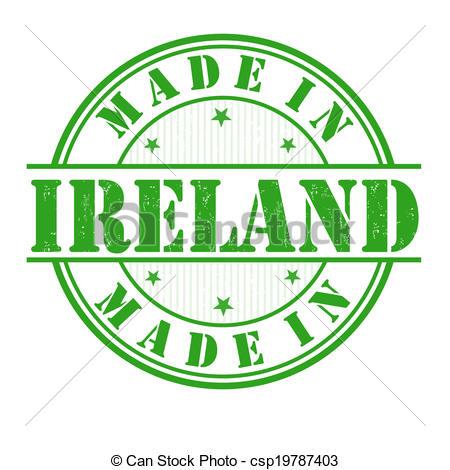 Clipart vettoriali di francobollo, fatto, Irlanda.