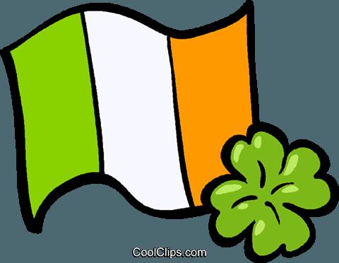 bandeira da Irlanda livre de direitos Vetores Clip Art ilustração.