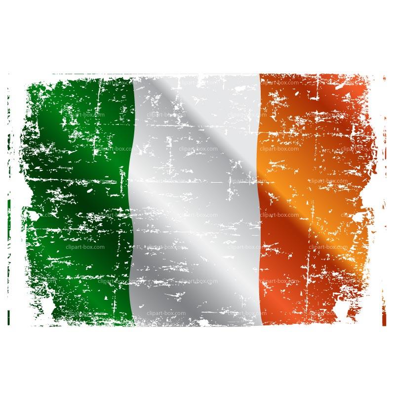 CLIPART IRELAND FLAG GRUNGE.