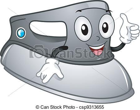 Clipart Vector of Iron Mascot.