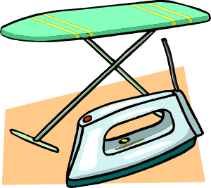 Ironing Board And Iron clip art Free Vector / 4Vector.