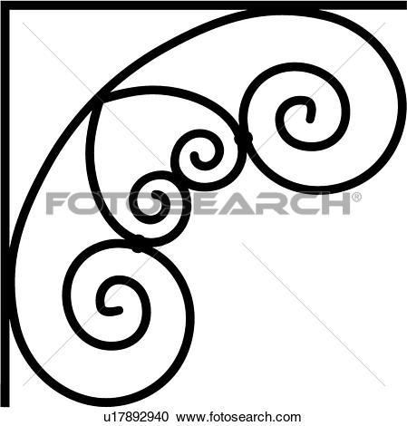 Clipart of , border, bracket, corner, iron, u17892940.
