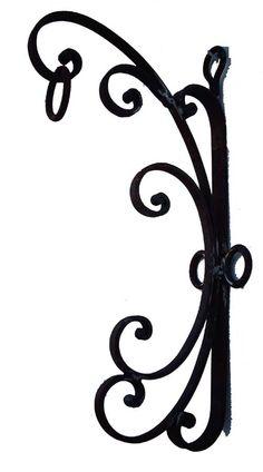 Wrought iron shelf bracket, metal counter support , metal shelf.