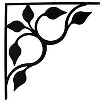 Amazon.com: Wrought Iron Leaf Fan Shelf Brackets Corner Accent 8.