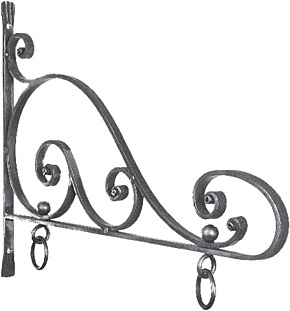 METAL HANGING SIGN BRACKETS.