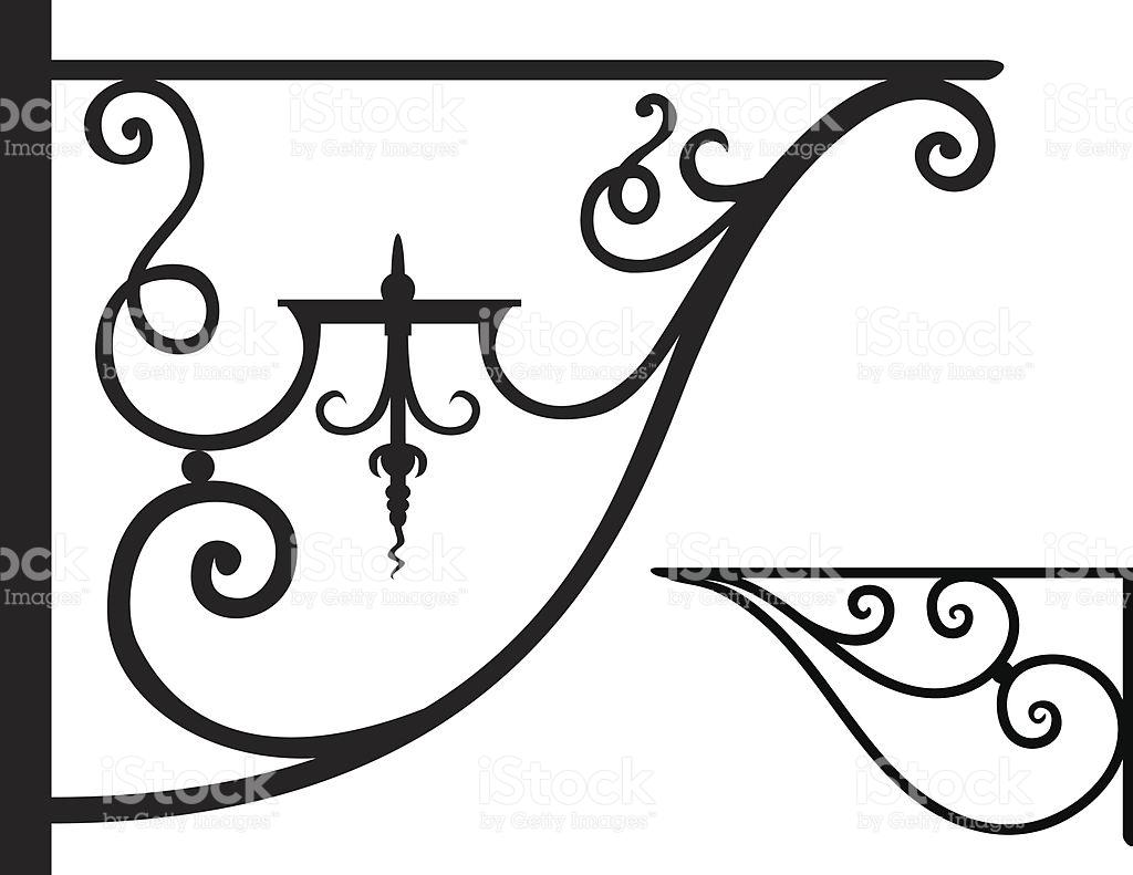 Wrought Iron Brackets stock vector art 165504973.