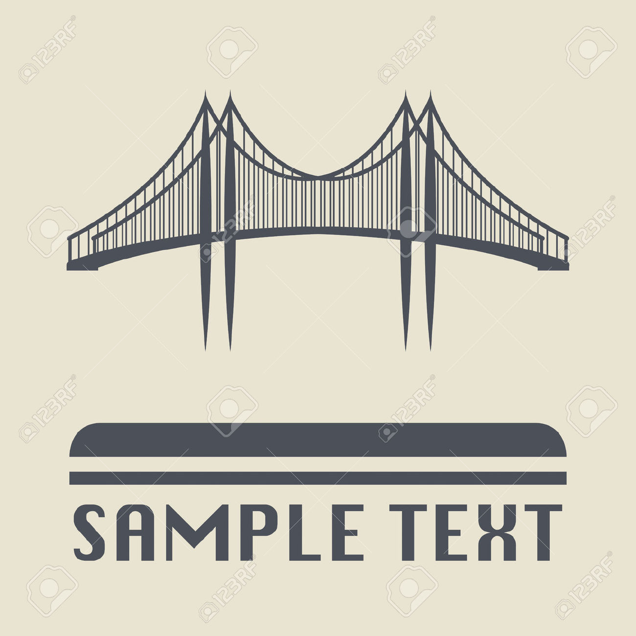 Bridge Icon Or Sign Royalty Free Cliparts, Vectors, And Stock.