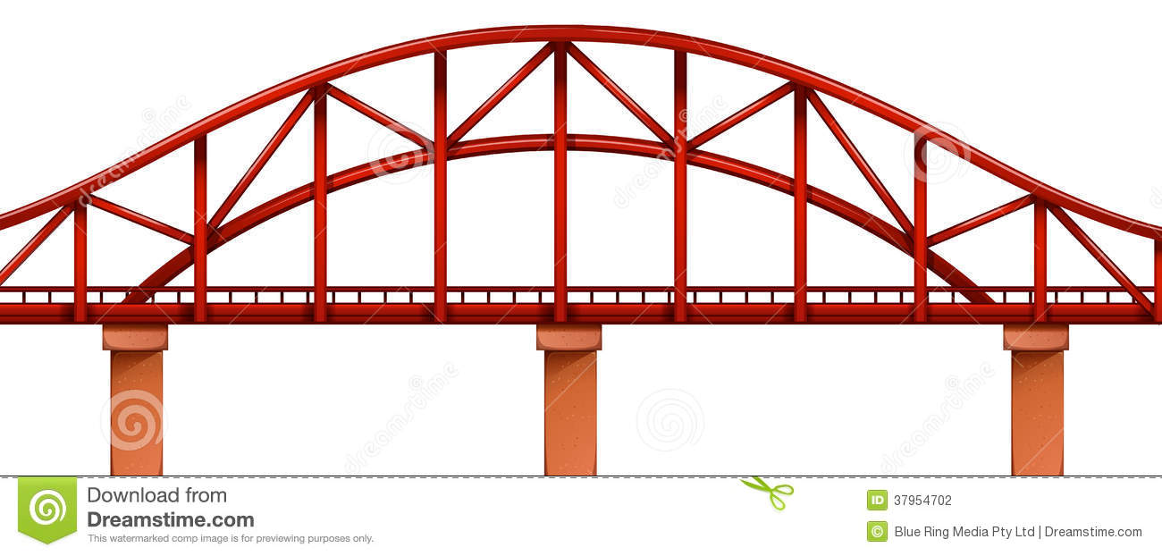 Truss Bridge Clip Art.