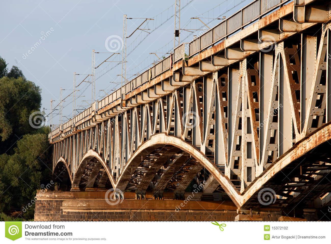 Old Iron Bridge Details Stock Photo.