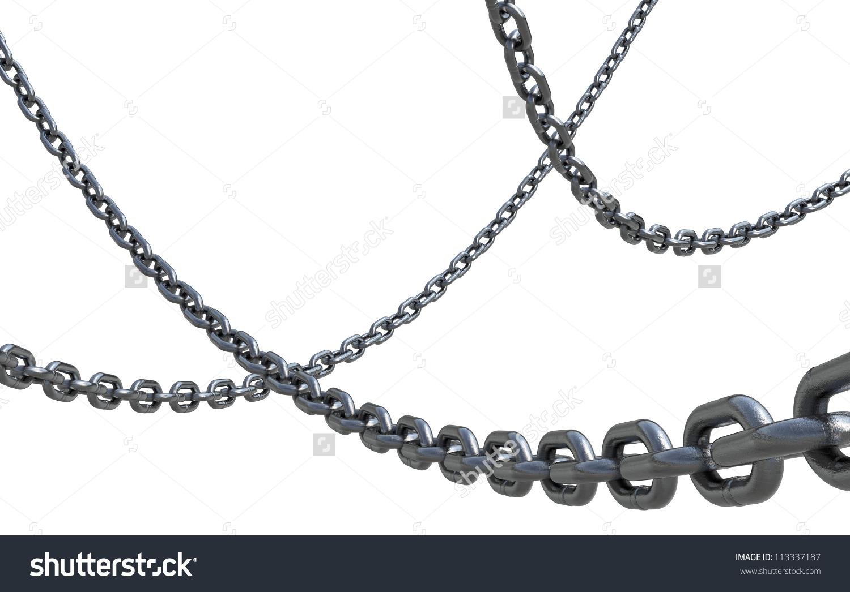 Iron Chain Isolated Ii Stock Illustration 113337187.