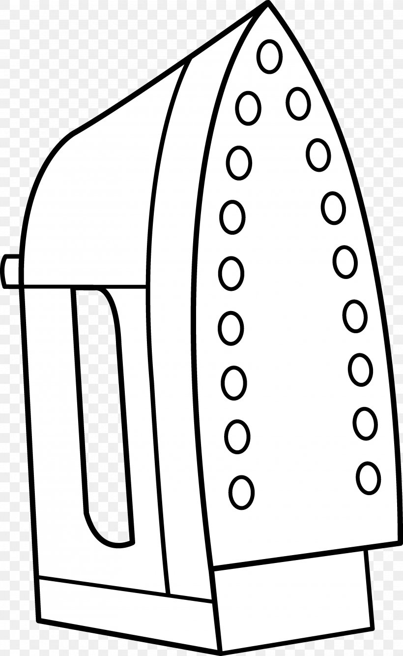 Clothes Iron Line Art Drawing Clip Art, PNG, 3420x5562px.