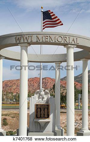 Pictures of Iron County, Utah WWI war memorial k7401768.