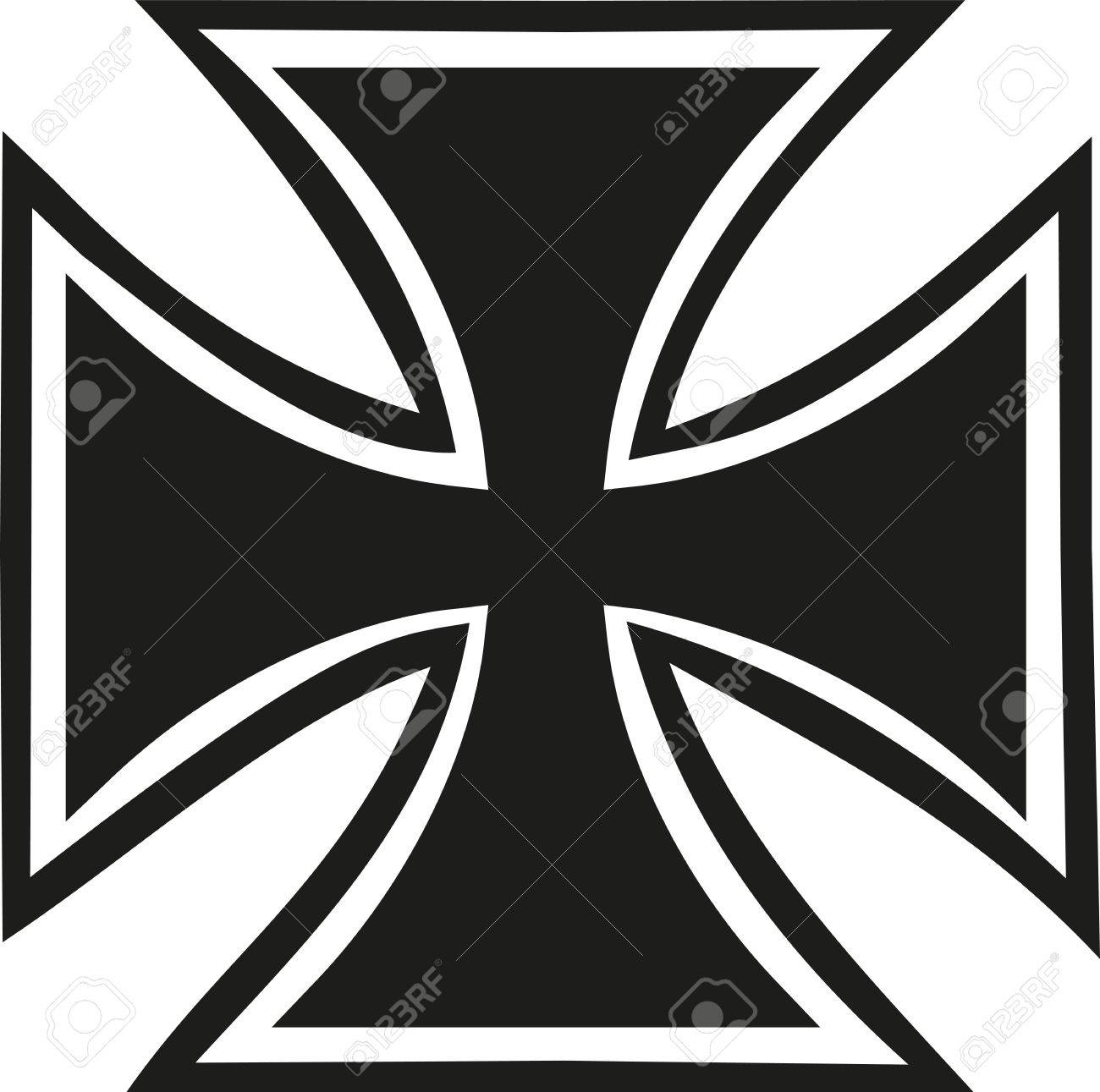Iron cross with contour.