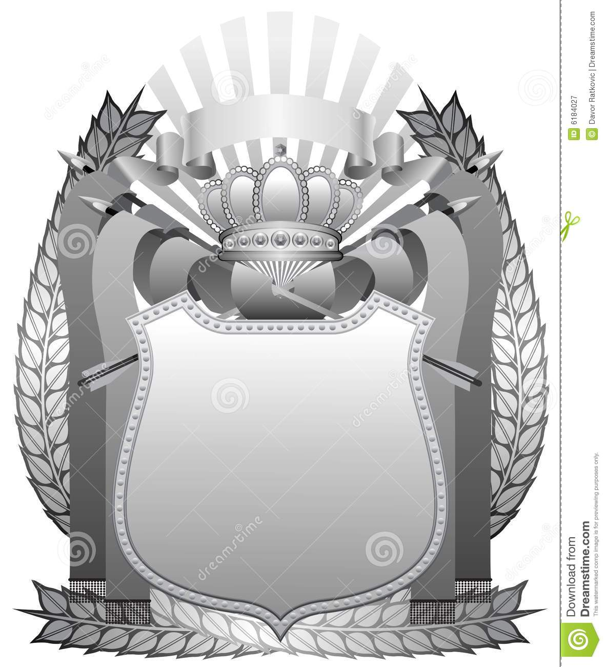 Iron Crown Royalty Free Stock Photography.