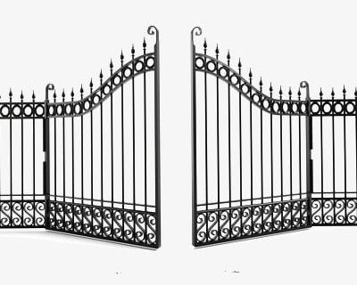 Iron Gate PNG, Clipart, Fence, Gate Clipart, Iron Clipart, Open.