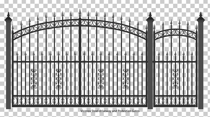Gate Wrought Iron Fence Door PNG, Clipart, Arch, Black And White.