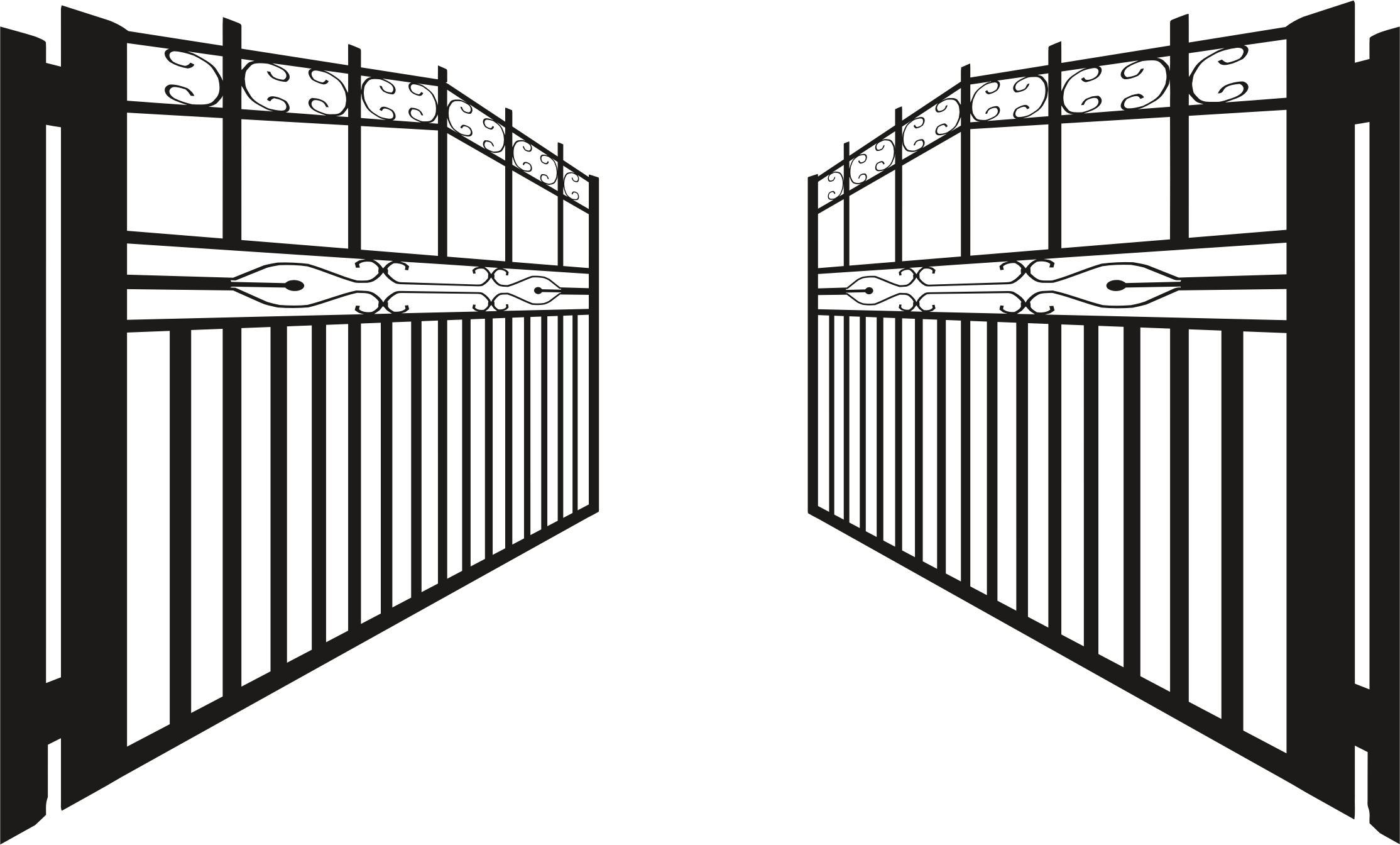 Iron gate clipart clipground
