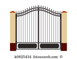 Iron gate Stock Illustrations. 710 iron gate clip art images and.