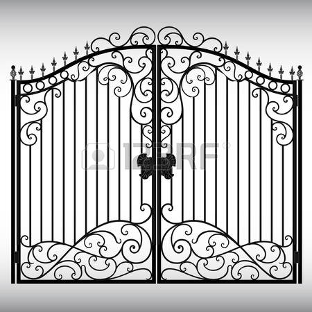 3,455 Iron Gate Cliparts, Stock Vector And Royalty Free Iron Gate.