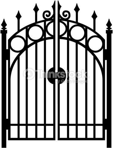 Iron gate clipart.