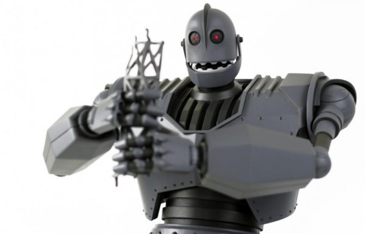 Check out a preview of Mondo's amazing new The Iron Giant.