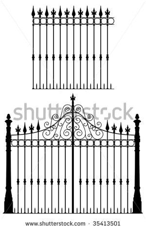 Wrought Iron Gate Stock Photos, Royalty.