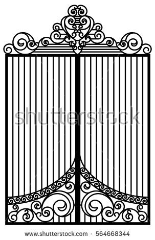 Metal Gate Stock Photos, Royalty.