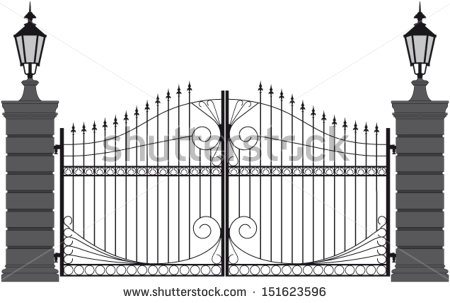 Wrought Iron Gate Stock Photos, Royalty.