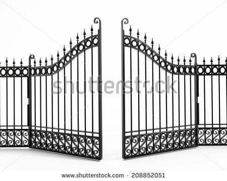 Metal Gate Stock Photos, Royalty.