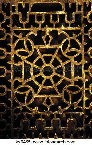 Stock Image of Antique iron grate ks6465.