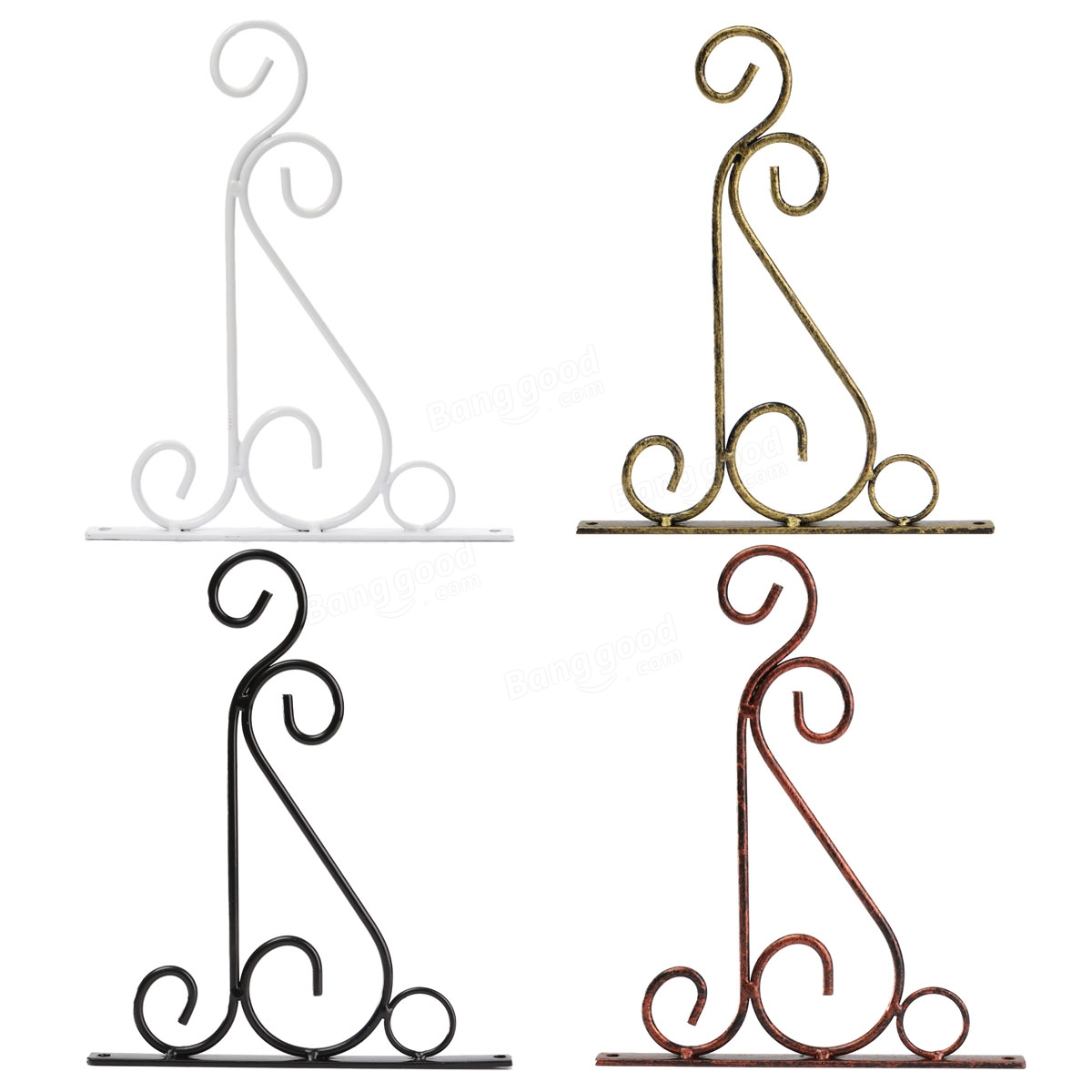 Classic Romantic Wrought Iron Flower Stand Hook Wrought Iron.