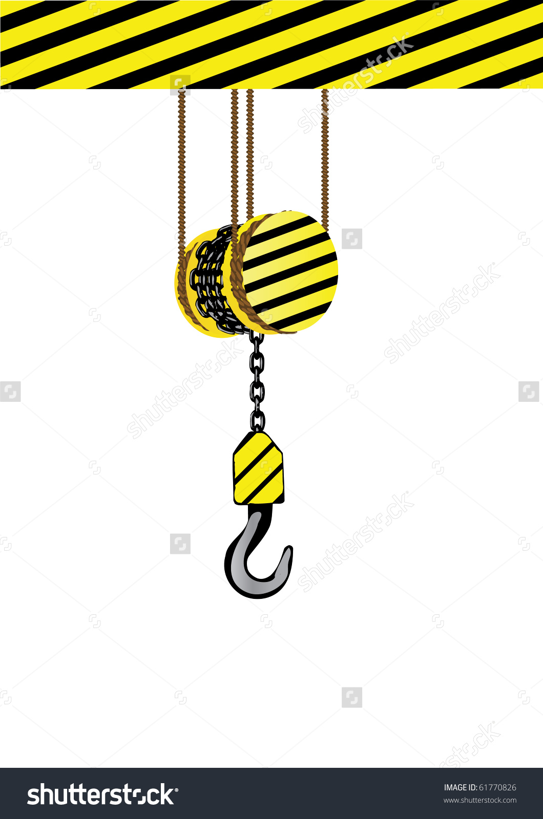 Vector Illustration Iron Hook On Chain Stock Vector 61770826.