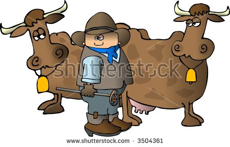 "Dennis Cox's ""Cowboys"" set on Shutterstock."
