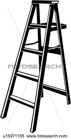 Clipart of Step Ladder u15371105.