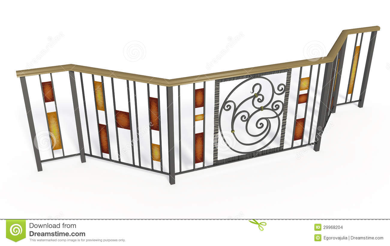Wrought Iron Stairs Lattice Stock Images.