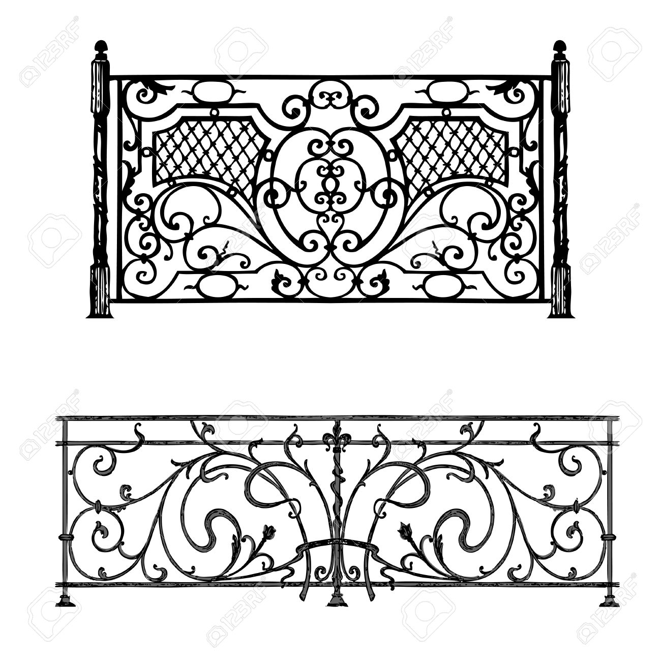 The Artistic Forging Products Lattice Wrought Iron Door, Fence.