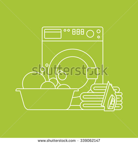Laundry Detergent To Dry Linen Stock Vectors & Vector Clip Art.