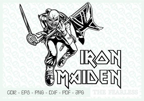 Iron Maiden Clip ART, vector file formats jpg, PNG, CDR, PDF, EPS.