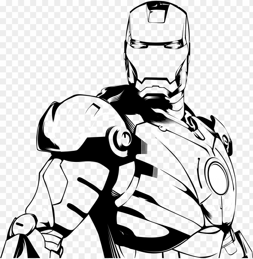 28 collection of ironman clipart black and white.