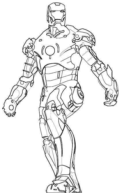 Iron Man Clipart Black And White.