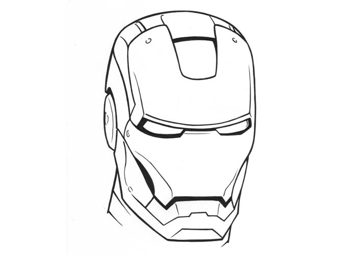 Free Iron Man Clipart Black And White, Download Free Clip.