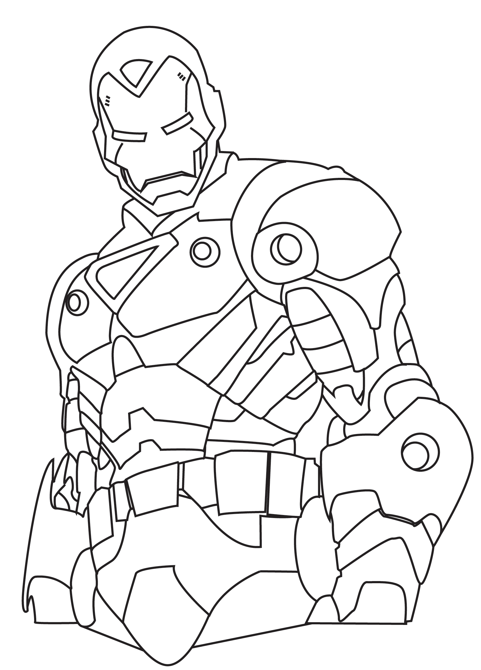 Free Iron Man Clipart Black And White, Download Free Clip Art, Free.