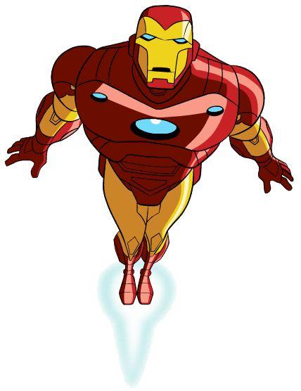 Iron Man Landiing Clipart.